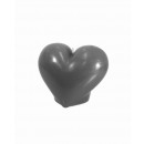 Candle heart - gray