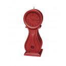 groothandel Klokken & wekkers: Kaars klok Vintage XXL - metallic rood
