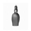 Bougie statue Moai - argent métallisé