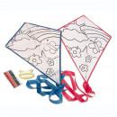 grossiste Bricoler et dessiner:coloration Kite - bleu