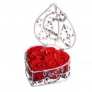 wholesale Gifts & Stationery: Soap roses in a white basket