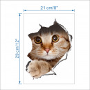 wholesale Wall Tattoos: Sticker 3D cat XL - 29 x 21 cm