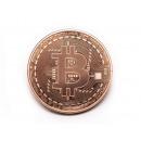 Bitcoin BTC collector coin in the capsule