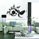 ingrosso Home & Living: Orologio con  adesivo sul muro - fai da te