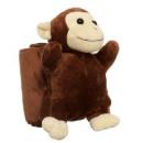groothandel Home & Living:Pluche aap met een deken
