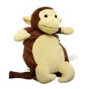 grossiste Fournitures scolaires: Peluche sac à dos  de singe avec une couverture