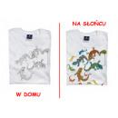 T-shirt changes  color - lizards in pocket