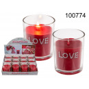 Rose love scented candle