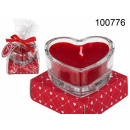 Scented heart candle