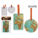 Luggage tag World map