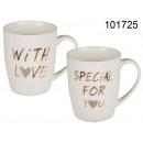 Tasse en porcelaine With love , spécial pour vous