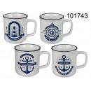 Retro stoneware cup - nautical nostalgia