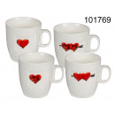 Porcelain cup of hearts