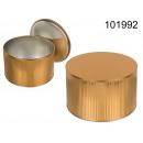 Metalowa złota puszka 3D - wysokość 10 cm x ...