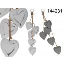 Wooden heart decoration to hang