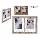 wholesale Pictures & Frames: Wooden frame for 2 photos with a metal mesh