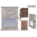 groothandel Spiegels: Houten sleutelkastje met spiegel