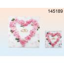 groothandel Tafellinnen: Servetten - hart met rozen