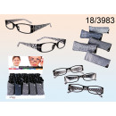 wholesale Reading Glasses: Reading glasses  with crystals in the holder