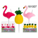 Party candles flamingos / pineapples