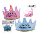 groothandel Stationery & Gifts: Verjaardagskroon  Happy Birthday met LEDs
