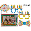 Photo accessories on sticks with frame - Happy Bir