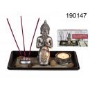 Buddha set decoration + tealight candle holder + i
