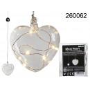 Coeur de verre 5 LED