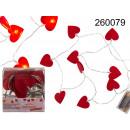wholesale Light Garlands:Felt heart garland LED