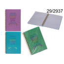 Notebook spiral notebook siren tail with A5 brocad