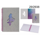 Notebook spiral notebook mermaid with A5 brocade