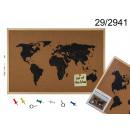 hurtownia Upominki & Artykuly papiernicze: Tablica memo z mapą świata (korkowa)