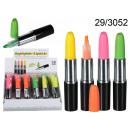 grossiste Stylos et crayons: surligneur rouge à lèvres