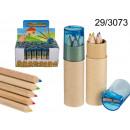 Houten potloden met een slijper