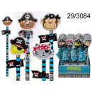 grossiste Fournitures scolaires: Crayon avec gomme pirates