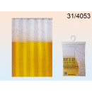 The shower curtain beer