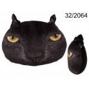 Dekoratív Párná black macska arca