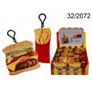 Porte-clés en peluche fast-food
