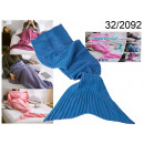 manta de sirena azul 180 cm