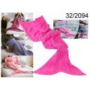 manta de sirena rosa 180 cm