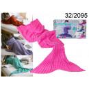 manta sirena rosada 140 cm