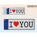 wholesale Gifts & Stationery: The registration plate I love You