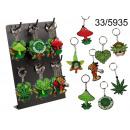 grossiste Porte-cles: cannabis Pendentif et champignons
