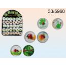 Großhandel Magnete: Glasmagnet - glückliche Marienkäfer
