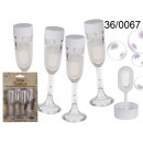 wholesale Drinking Glasses: Soap bubbles glasses of champagne