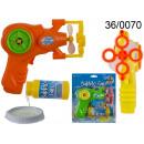 grossiste Jeux de jardin: Pistolet à bulles de savon + liquide