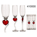 wholesale Drinking Glasses: Champagne glasses with heart