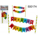 Birthday banner for a cake