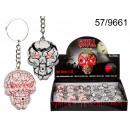 grossiste Porte-cles: porte-clés Crâne avec le son et LED