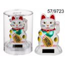 grossiste Articles Cadeaux: chat solaire  figurine bonheur blanc
